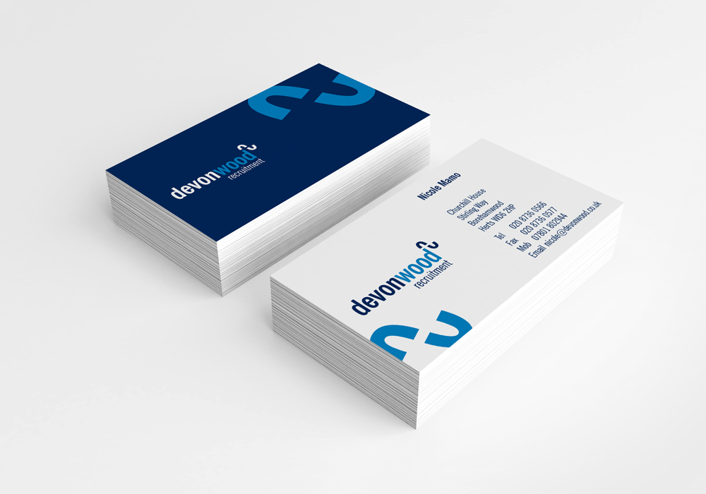 Devonwood Recruitment business card