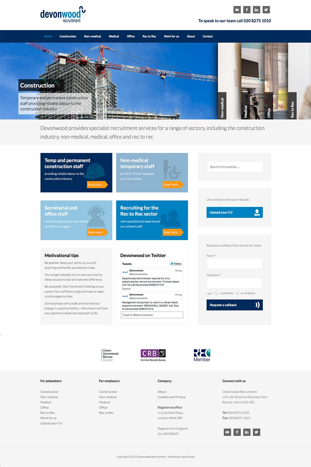 Devonwood Recruitment website