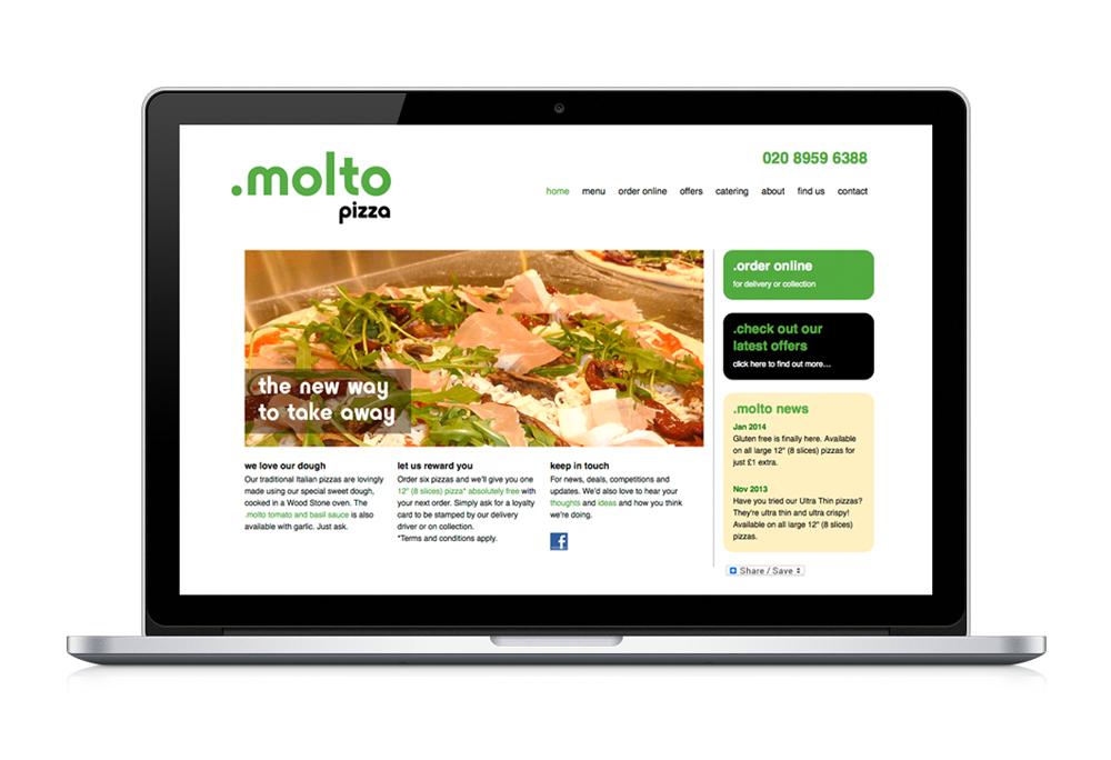 Molto Pizza website
