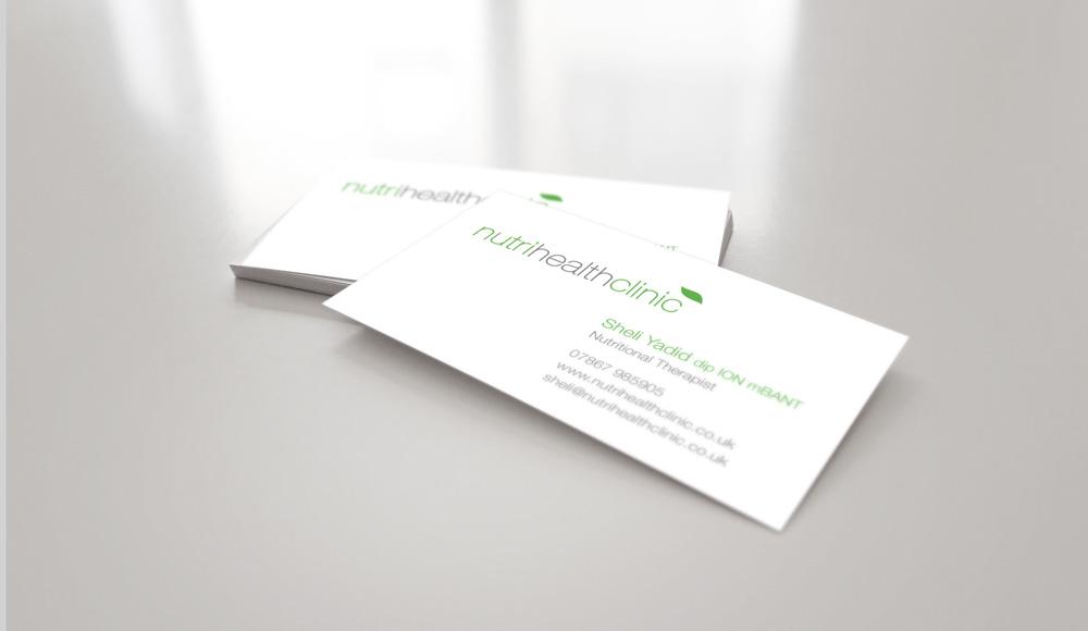 Nutri Health Clinic business card