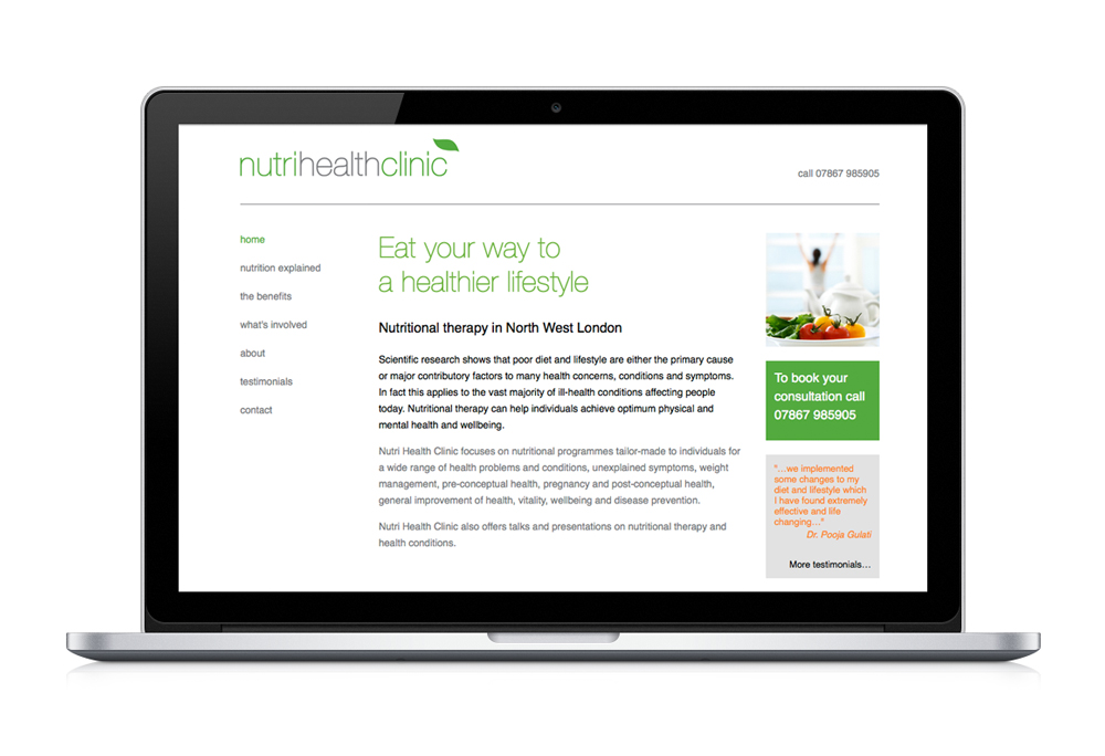 Nutri Health Clinic website