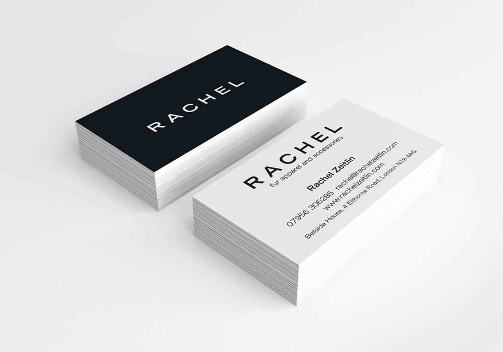 Rachel business card